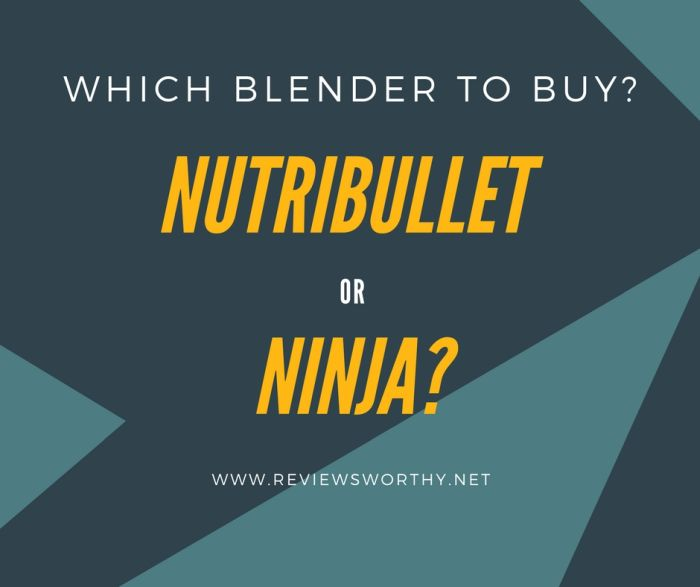 which one to buy nutribullet or ninja