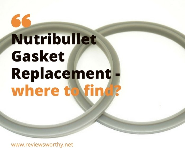 Nutribullet Gasket Replacement - where to find_
