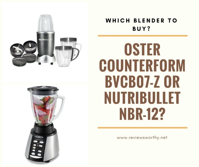 Oster Counterform BVCB07-Z or NutriBullet NBR-12_