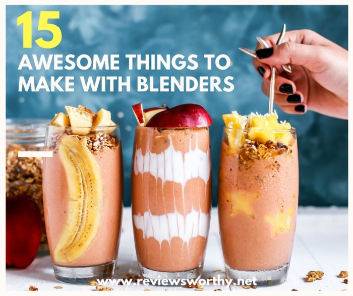 Awesome things you can make in your blender