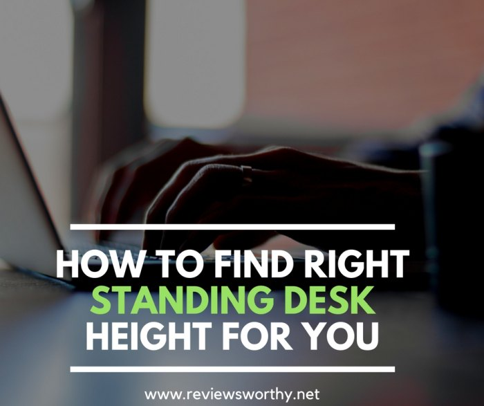 How to find Right standing desk height