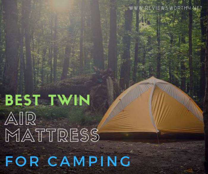 Best Twin air mattress for camping